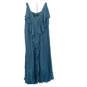 NY&Co Button Front Blue Dress